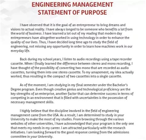 Engineering To Mba Statement Of Purpose by How To Write An Impressive Sop For Masters In Engineering