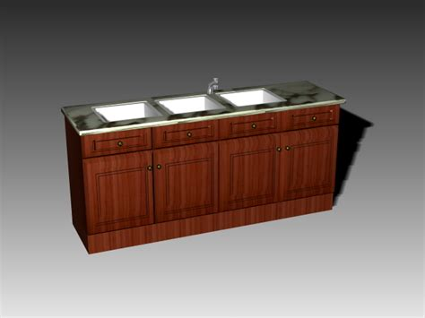 free standing kitchen sink cabinet free standing kitchen cabinets with sink 3d model 3dsmax