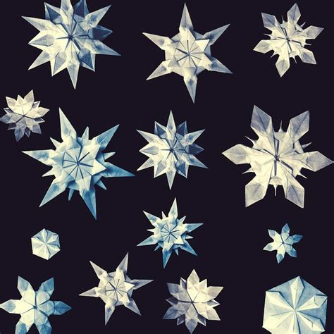 Origami Snowflakes - 8 best images about origami diagrams on
