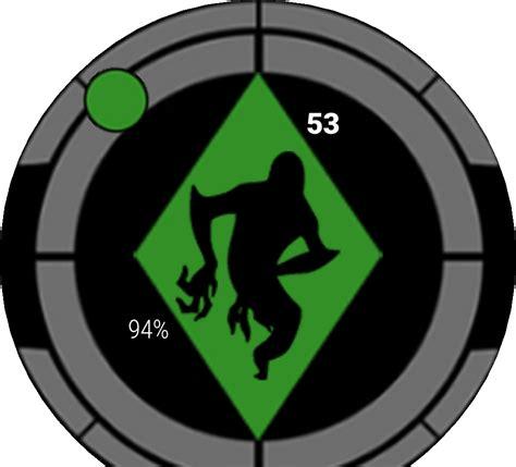 Cool Digital Clock by Ben 10 Omnitrix V1 Alternating Watchface For Moto 360