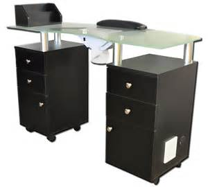 table frosted top tempered:  tables modern double pedestal manicure table with frosted glass top