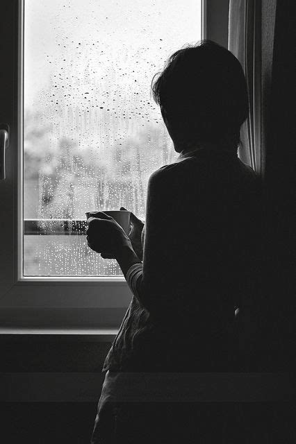 let it rain coffee remembering woman looking out window grief