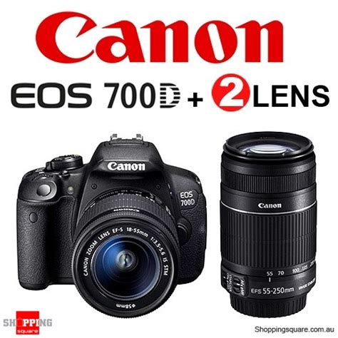 Canon Eos 700d Lens canon eos 700d 18 55mm stm 55 250mm is lens digital shopping shopping