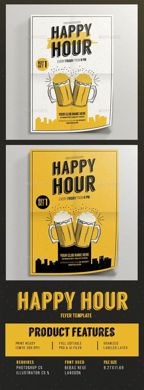 happy hour sign template 58 best images about retro inspired flyer on