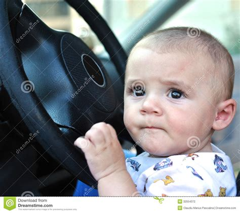 drive baby baby boy driving stock photography image 32554372