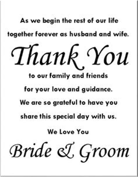thank you letter after wedding reception 1000 images about wedding program thank you sle