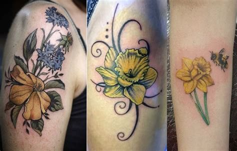 small daffodil tattoo designs some amazing daffodil tattoos designs and ideas you must