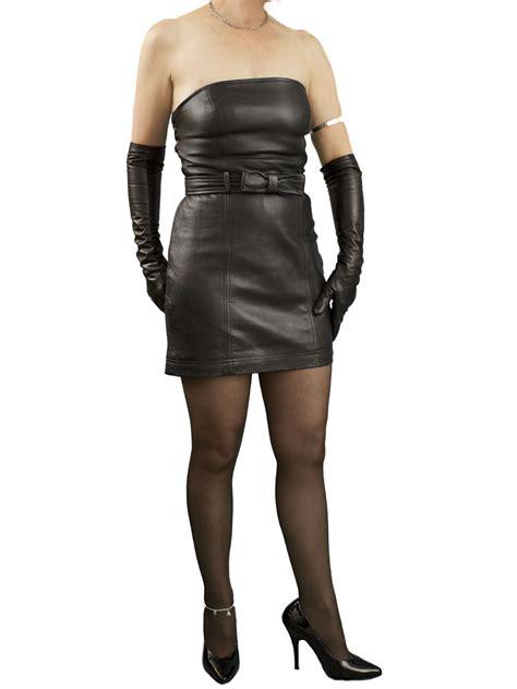Mini Leather Dress strapless black mini leather dress with belt tout ensemble