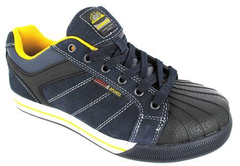 steel toe sport shoes mens safety sport steel toe cap leather work lightweight