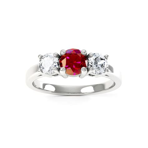 eternity three ruby and 18ct white gold