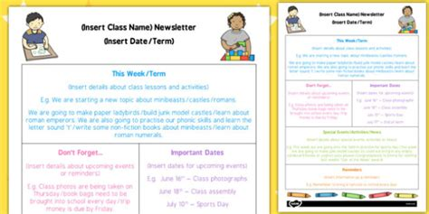 Eyfs Editable Newsletter Template Eyfs Editable Newsletter Physical Education Newsletter Template