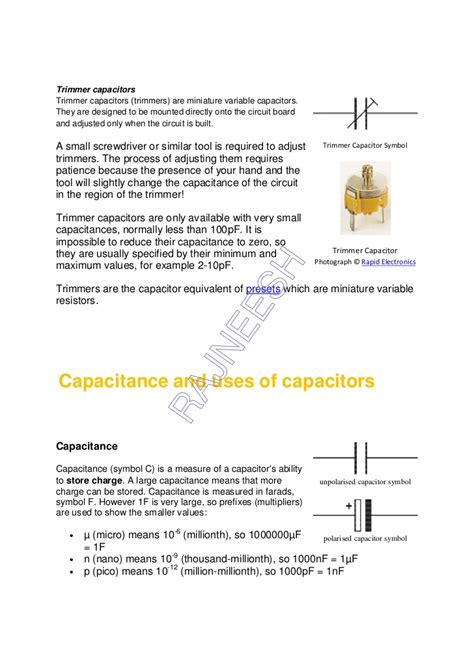 resistor and capacitor relationship resistors capacitors and 28 images electronic components an easy to use guide resistors and