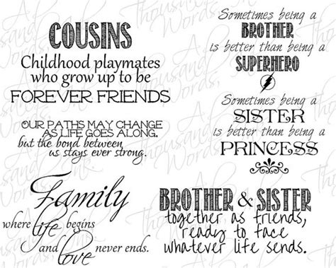 printable cousin quotes brother quotes for scrapbooking digital scrapbook