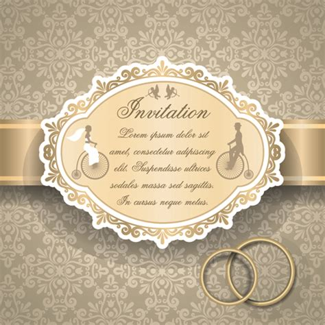 vector pattern for wedding invitation qrnate floral pattern wedding invitations vector 03