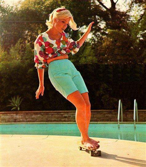 1960s famous women skaters retro 1960 s swimwear beachwear and surf fashion