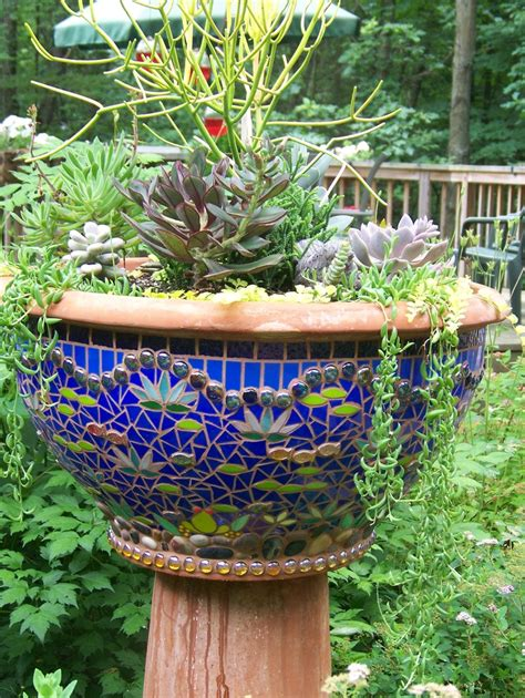 18 best images about mosaic garden pots on