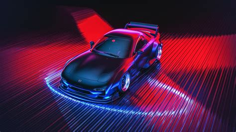 Car Neon Wallpaper by Mazda Neon Car Wallpapers Hd Wallpapers Id 24399