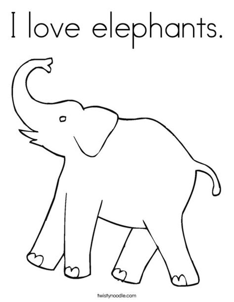 elephant ears coloring pages i love elephants coloring page twisty noodle