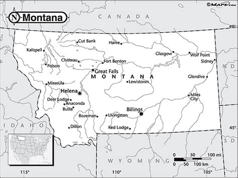 montana map coloring page montana outline map by maps com from maps com world s