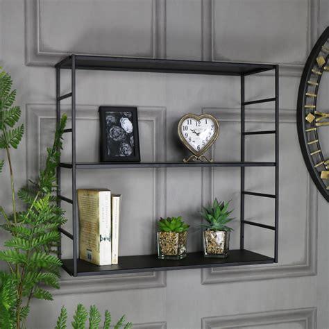 Black Metal Wall Shelf Black Metal Wall Shelves Melody Maison 174