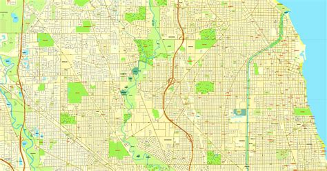 chicago map vector chicago illinois us vector map adobe illustrator