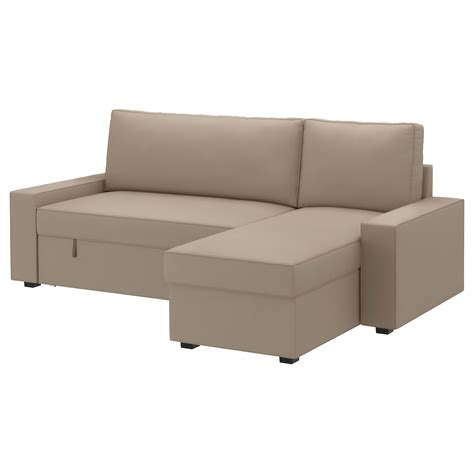 Cream White Color Small Leather Sectional Sleeper Sofa Sleeper Sofa With Chaise Lounge