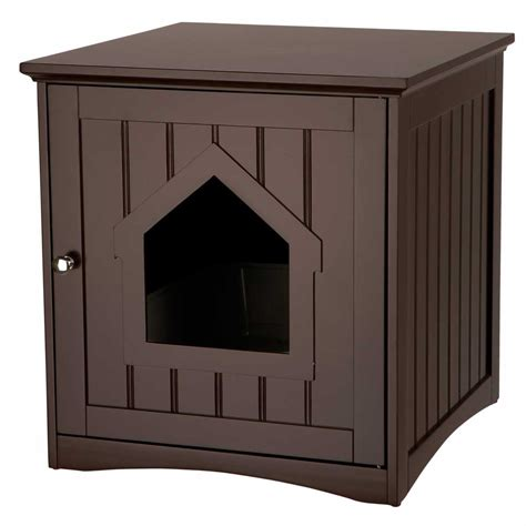 litter box cabinet wooden cat toilet litterbox cabinet brown