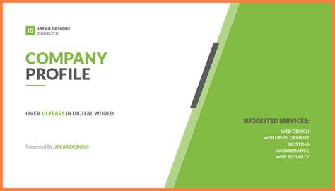 8 company profile format template company letterhead 8 company profile powerpoint template company letterhead
