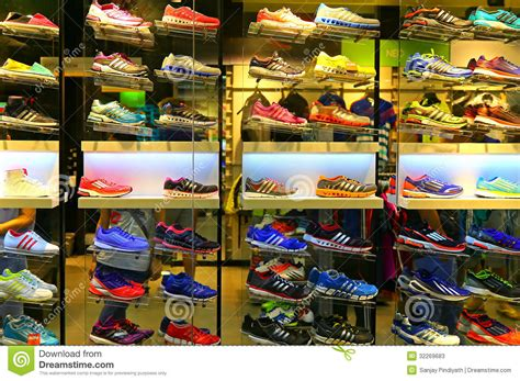 sport shoe store adidas sports shoes editorial stock photo image of