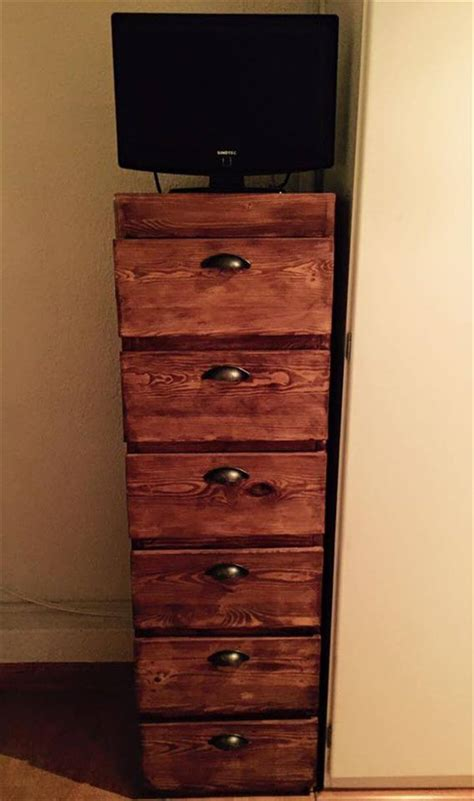 dresser with cabinet and drawers pallet wood chest of drawers 101 pallets