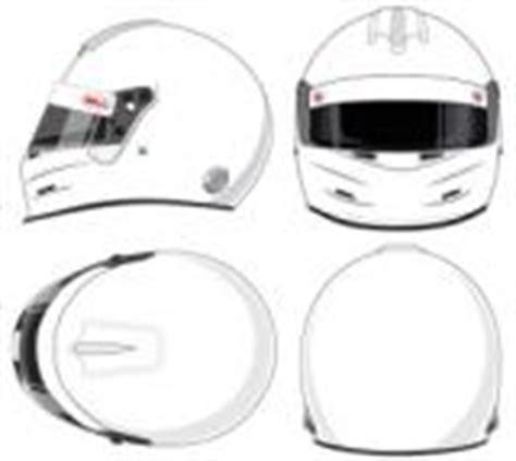 bell helmet design template paint forms line art