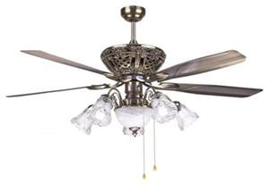 Concord Rugs Traditional Decorative Bronze Ceiling Fan Light