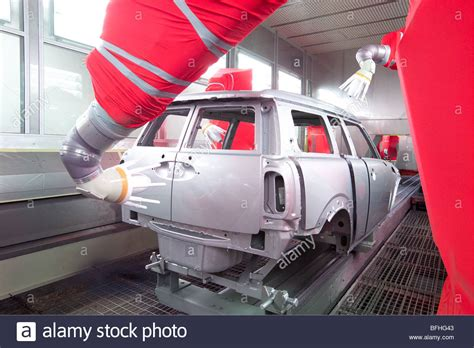 car painting free automatic spray painting a vehicle in a car assembly plant