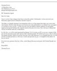 Sample termination letters letter samples livecareer com