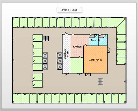 office building layout design conceptdraw sles floor plan and landscape design