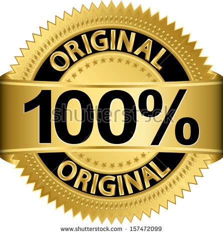 Lacoste Sport Original 100 Money Back Guarantee golden 100 percent original label vector stock vector 157472099