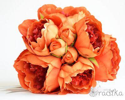peonies and orange blossoms designing turuncu yapay şakayık gelin buketi orange artificial peony bridal bouquet gelin buketleri