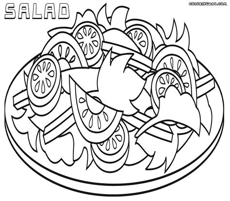 Coloring Page Of by Salad Coloring Pages Coloring Pages To And Print