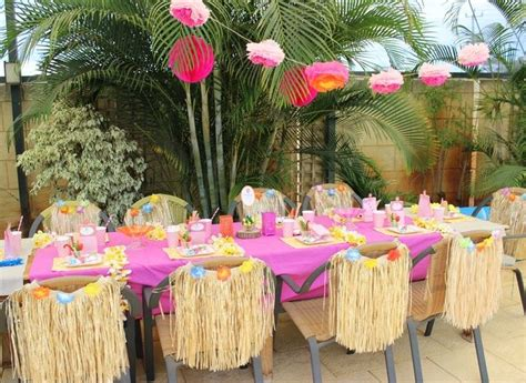 Aloha Decorations by Hawaiian Luau Birthday Ideas