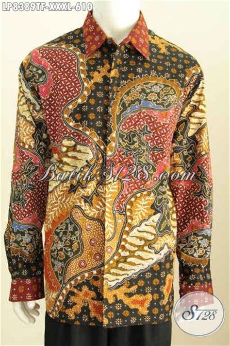 Baju Pria Big Size baju batik pria ukuran big size pakaian batik hem lengan panjang mewah bahan halus motif klasik