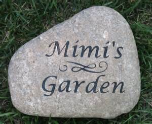 Engraved Garden Rocks Personalized Garden Custom Engraved River By Mainlinedesigns