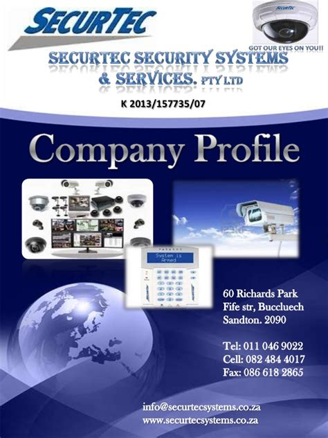 Company Profile Securtec Security Systems Services Security Company Profile Template