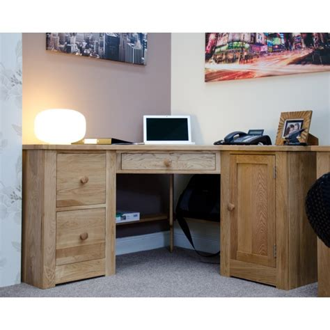 corner desk oak torino solid oak corner desk furniture4yourhome