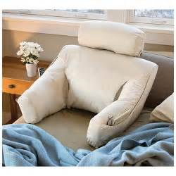 Bed lounge back support pillow for tv and reading