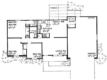 1 5 floor house plans 3 bedroom 1 5 bath ranch home floor plans
