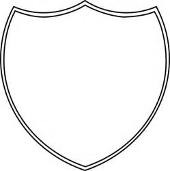Shield Outline Template by Shield Outline Clip At Clker Vector Clip