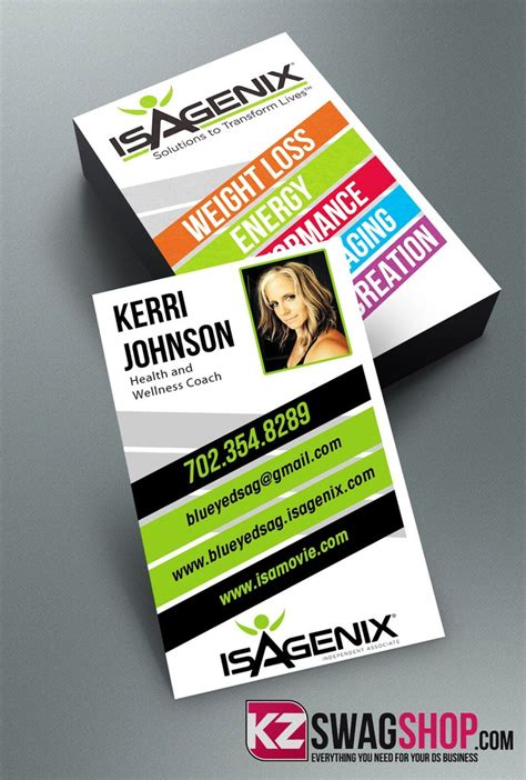 isagenix business card template 4 order isagenix business cards choice image card design