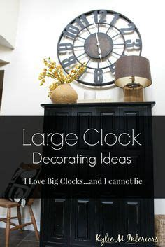 large clocks decorating decorating ideas with large or oversized metal or wood clocks in