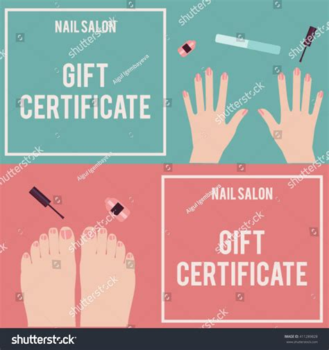 printable gift certificates for nails nail gift certificate template www imgkid com the