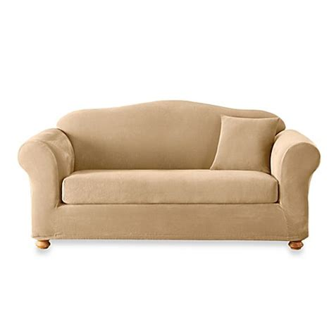 sure fit stretch sterling slipcover sure fit stretch sterling cream 2 piece sofa slipcover
